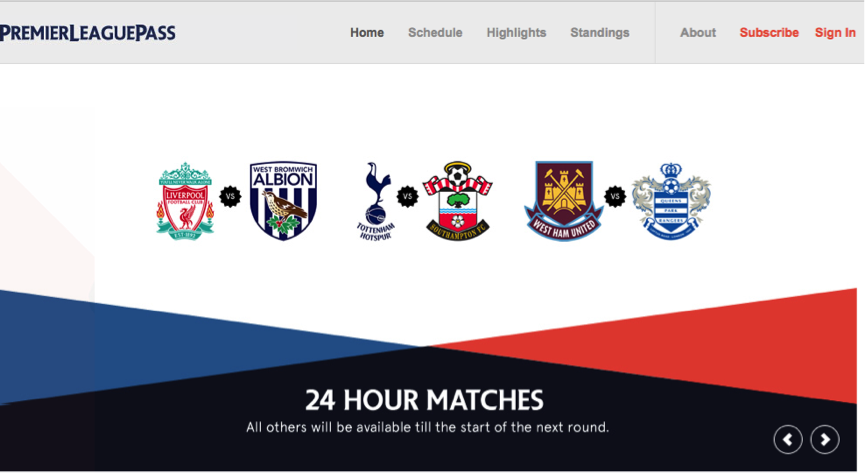 Get the EPL online with Star Sports, Bein Sport and Premier League Pass